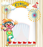 A clown at the circus entrance. Illustration of a clown at the circus entrance Stock Photo