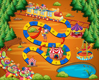 Clown circus game Stock Photography