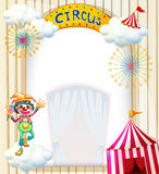A clown in the circus. Illustration of a clown in the circus on a white background Royalty Free Stock Images