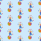 Clown in circus pattern Stock Photos