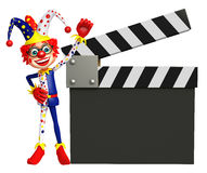 Clown with Clapper board. 3d rendered illustration of Clown with Clapper board Stock Photo