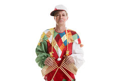 Clown with clapper Royalty Free Stock Photography