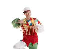 Clown with clapper Royalty Free Stock Images
