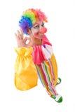 Clown coloré Photographie stock