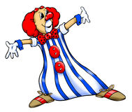 Clown. Colored clown illustration with the open arms Royalty Free Stock Photo