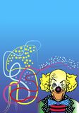 Clown with colored lines Royalty Free Stock Images