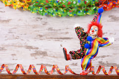 Clown with colorful costume at carnival party Royalty Free Stock Photography