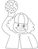 Clown coloring page Royalty Free Stock Photo