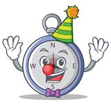 Clown compass character cartoon style Royalty Free Stock Photography