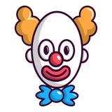 Clown con la grande icona dell'occhio, stile del fumetto illustrazione vettoriale