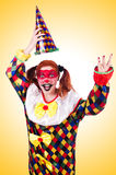 Clown in the costume  Royalty Free Stock Photos