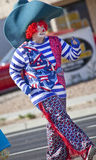Clown cowboy in Arizona Parade Stock Images