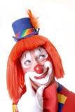Clown curieux Photographie stock libre de droits