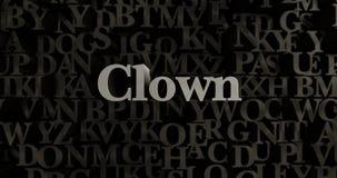 Clown - 3D übertrug metallische gesetzte Schlagzeilenillustration Lizenzfreie Stockfotos