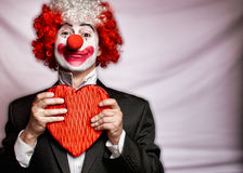 Clown d'amour Photo libre de droits