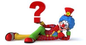 Clown d'amusement illustration de vecteur