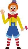 Clown d'amusement de bande dessinée avec le visage peint Photographie stock libre de droits