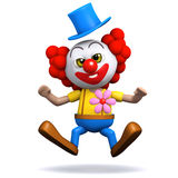 Clown 3d erhält einen Schock Lizenzfreies Stockfoto