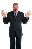 Clown d'homme d'affaires Image libre de droits