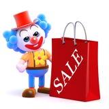 Clown 3d ist zu den Verkäufen gewesen Stockfotos