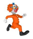 Clown 3d lack-läufer Stockfotografie