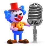 Clown 3d macht eine Mitteilung Lizenzfreie Stockfotografie
