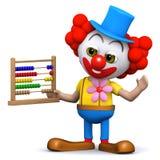 Clown 3d mit Abakus Lizenzfreies Stockbild