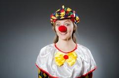 Clown dans le concept drôle Photo libre de droits