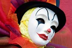 Clown dans le masque blanc - haut proche Photos libres de droits