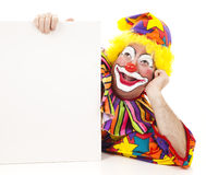 Clown Daydreams with Sign Stock Image