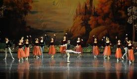The clown dazzling dance-ballet Swan Lake Stock Photo