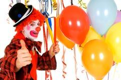 clown de célébration Image stock