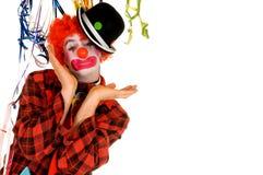 clown de célébration Photos stock