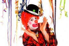 clown de célébration Photo stock