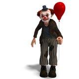 Clown de cirque drôle avec le sort d'émotions Photographie stock