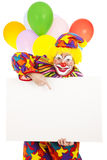 Clown de cirque - message Photo stock