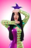 Clown de femme Photographie stock