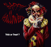 Clown de Halloween illustration stock