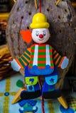 Clown de marionnette. Image libre de droits