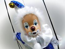 Clown de marionnette Photographie stock libre de droits