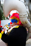 Clown de musicien jouant le tuba Photos libres de droits