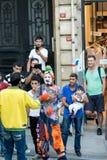 Clown de rue image libre de droits