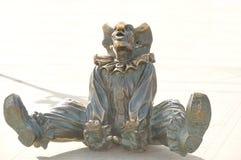 Clown de statue Photographie stock libre de droits