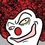 Clown de visage Images stock