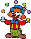 Clown, der Kugel spielt Stockbild