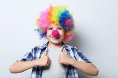 Clown des kleinen Jungen Lizenzfreie Stockfotos
