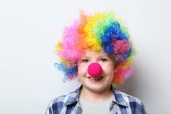 Clown des kleinen Jungen Lizenzfreie Stockfotografie
