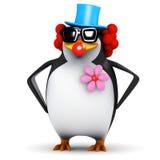 Clown des Pinguins 3d Lizenzfreie Stockfotos