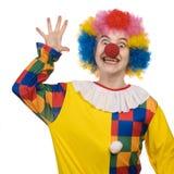 Clown die hello zegt Royalty-vrije Stock Fotografie