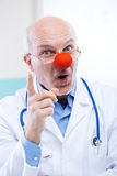 Clown doctor Stock Photo